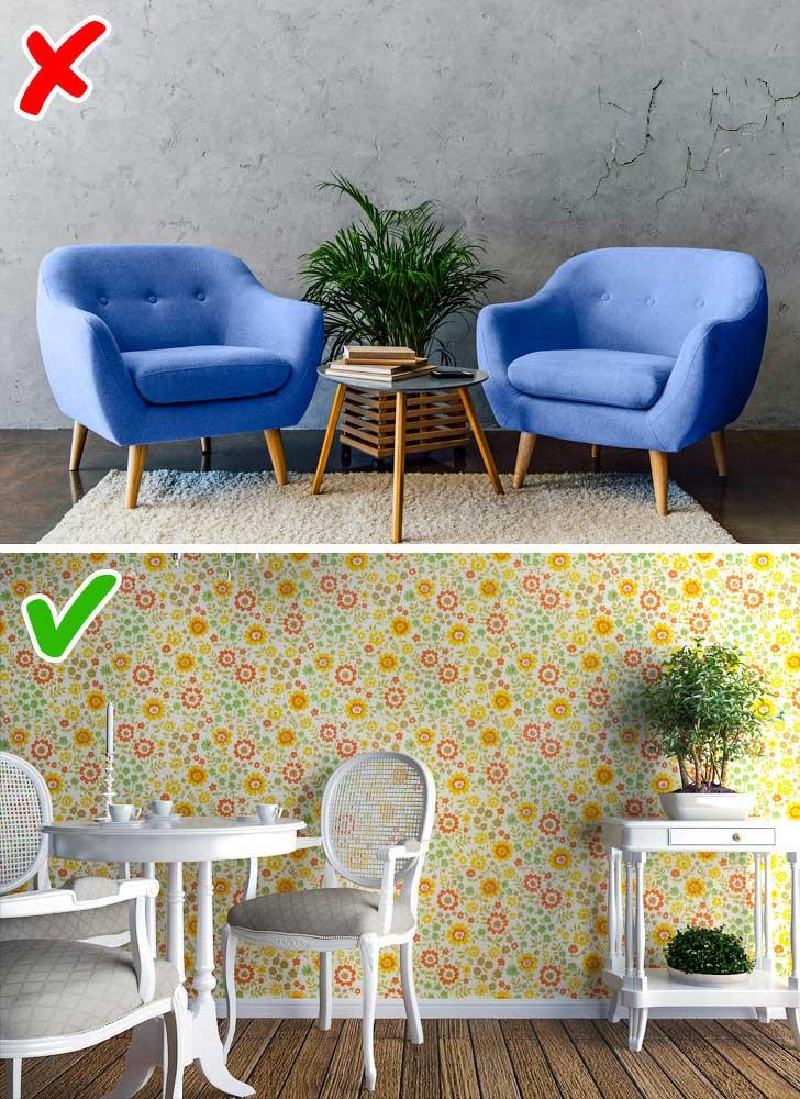 Dù là sơn hay giấy dán tường thì cũng nênlựa chọn loại cao cấp.