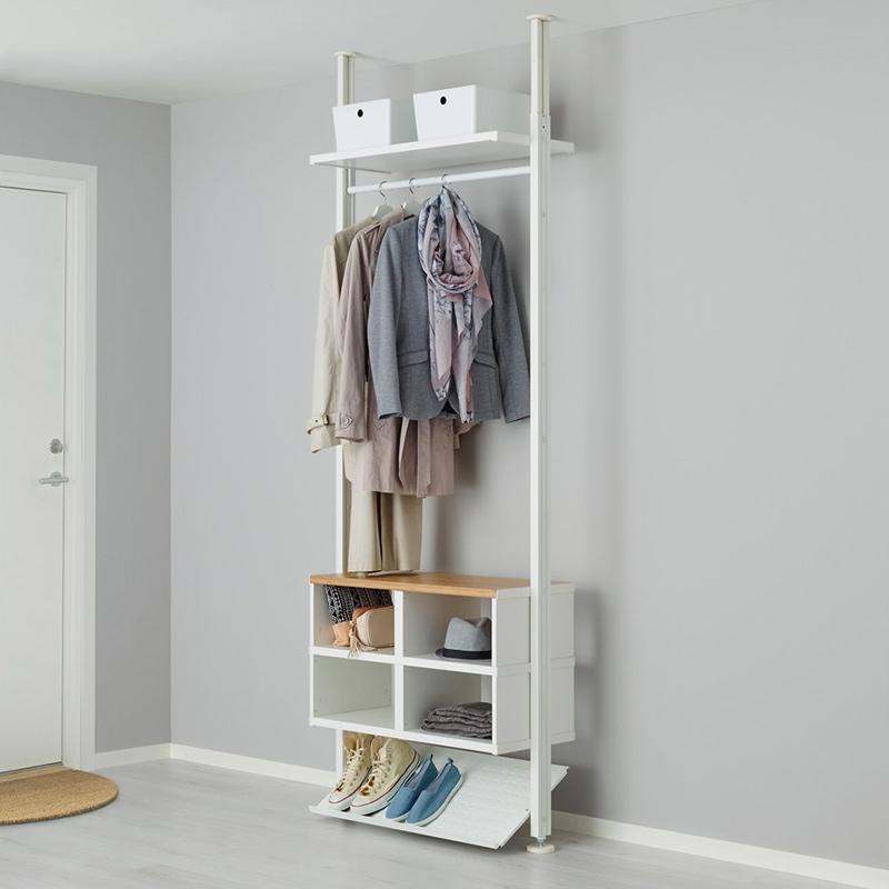 Giá đề giày kết hợp tủ treo quần áo