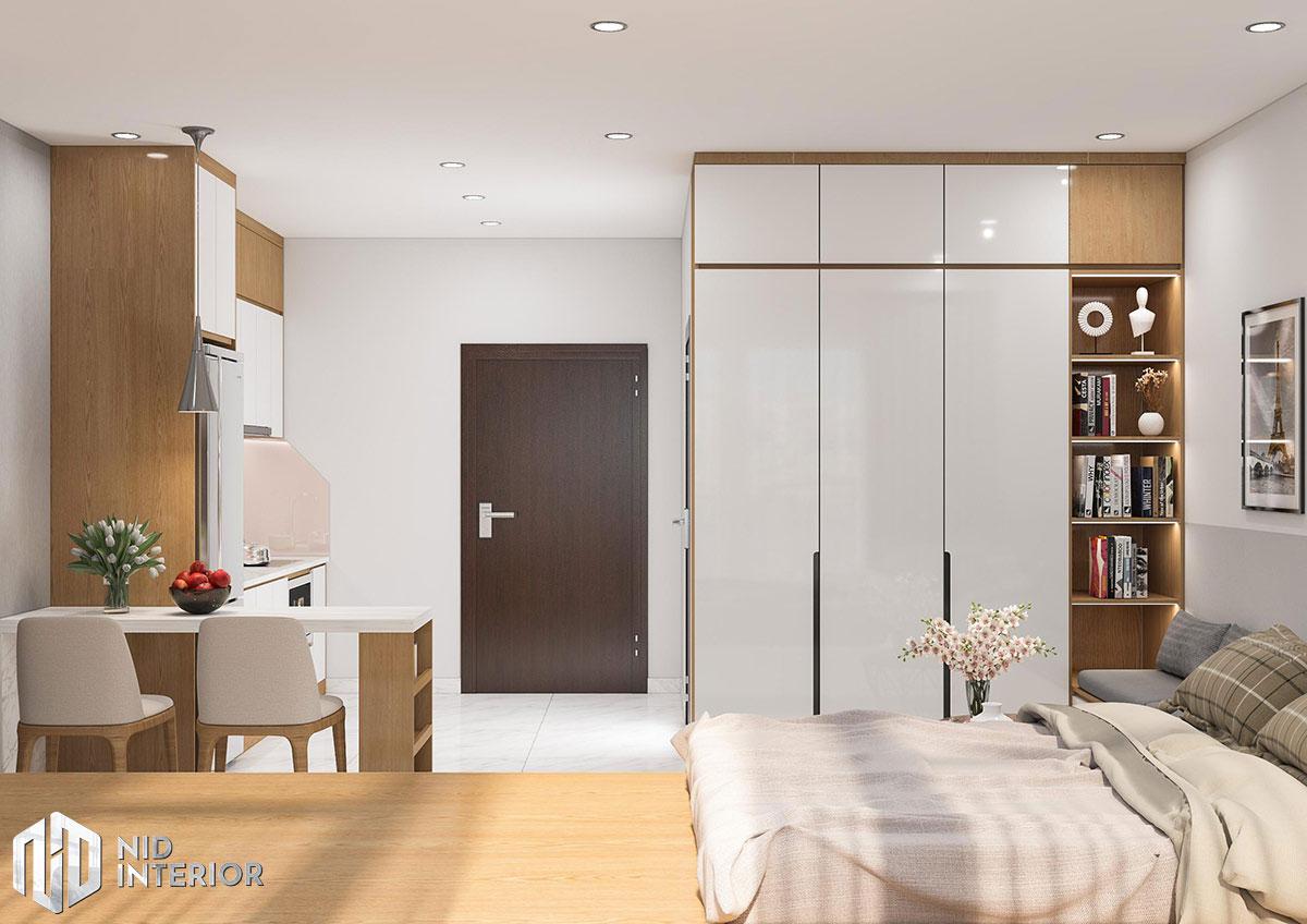 Thiết kế nội thất căn hộ 1 phòng ngủ - Phòng ngủ master