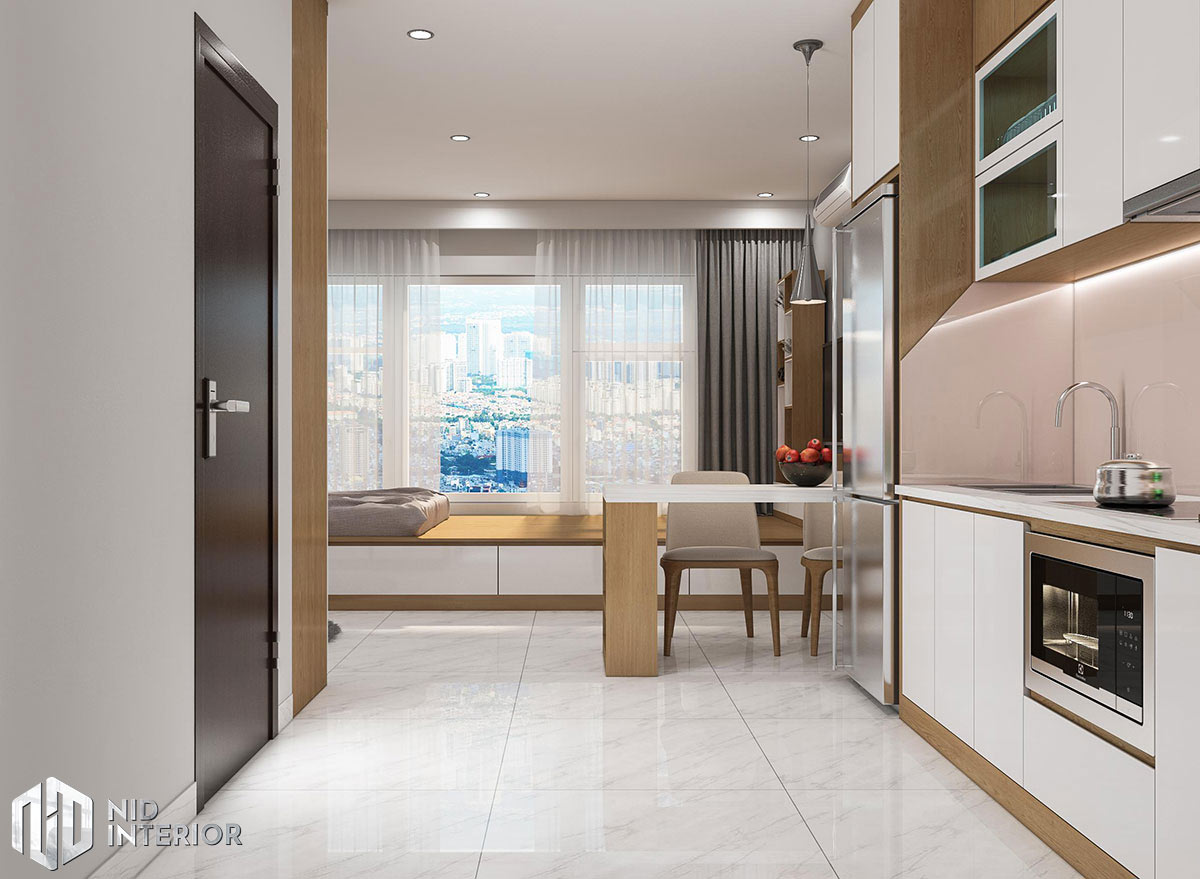 Thiết kế nội thất căn hộ 1 phòng ngủ - Phòng ngủ