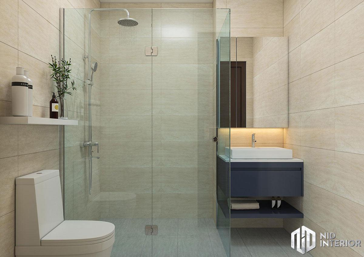 Thiết kế nội thất căn hộ 1 phòng ngủ - Phòng vệ sinh