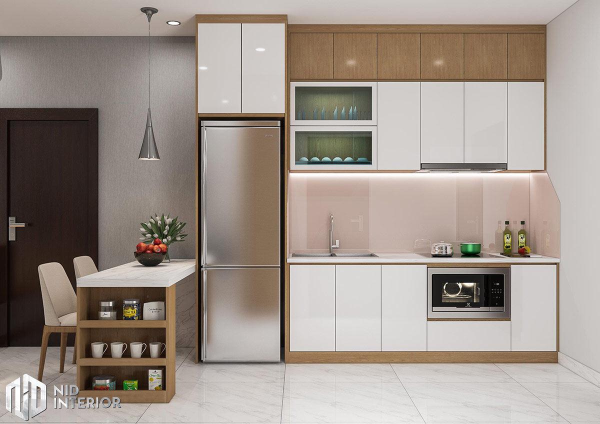 Thiết kế nội thất căn hộ 1 phòng ngủ - Bếp