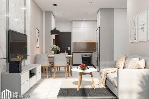 Thiết kế nội thất căn hộ 2 phòng ngủ hiện đại đẹp