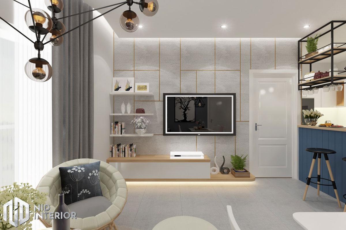 Thiết kế nội thất căn hộ DIC Phoenix - Phòng khách