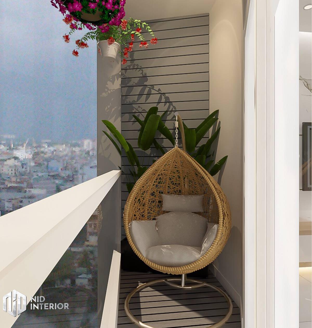 Thiết kế nội thất căn hộ DIC Phoenix - Ban công