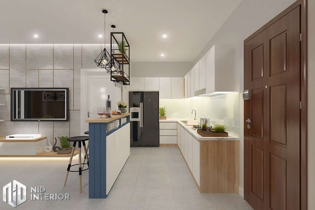 Thiết kế nội thất căn hộ DIC Phoenix - Khu bếp