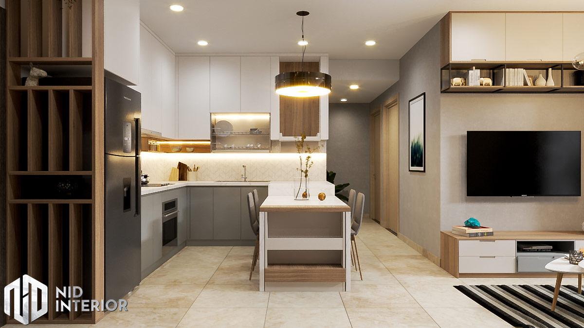 Thiết kế nội thất căn hộ Sunrise Riverside - Khu bếp ăn