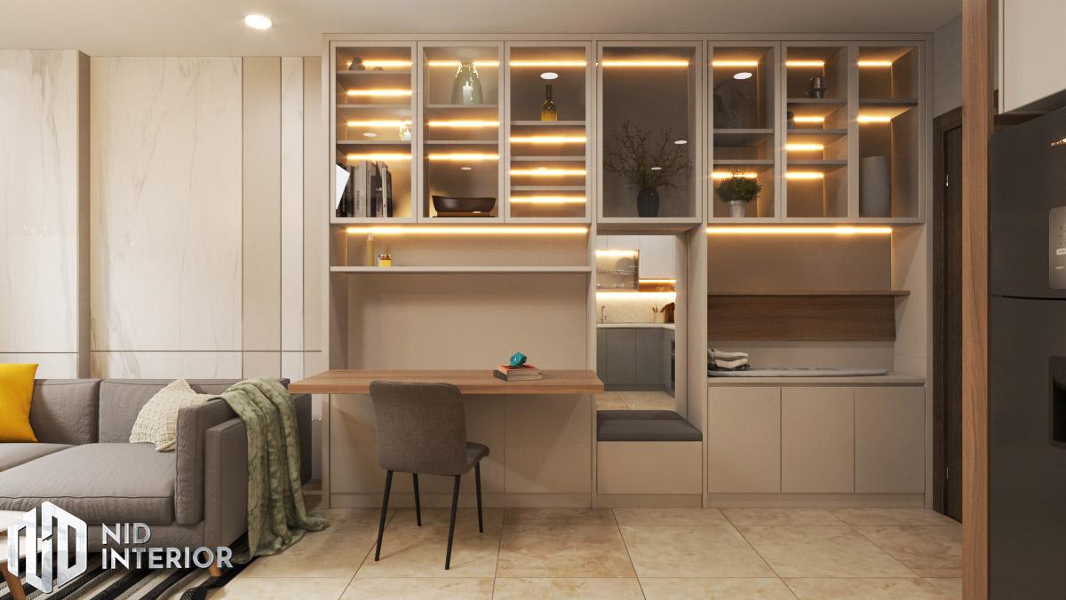 Thiết kế nội thất căn hộ Sunrise Riverside - Bàn làm việc