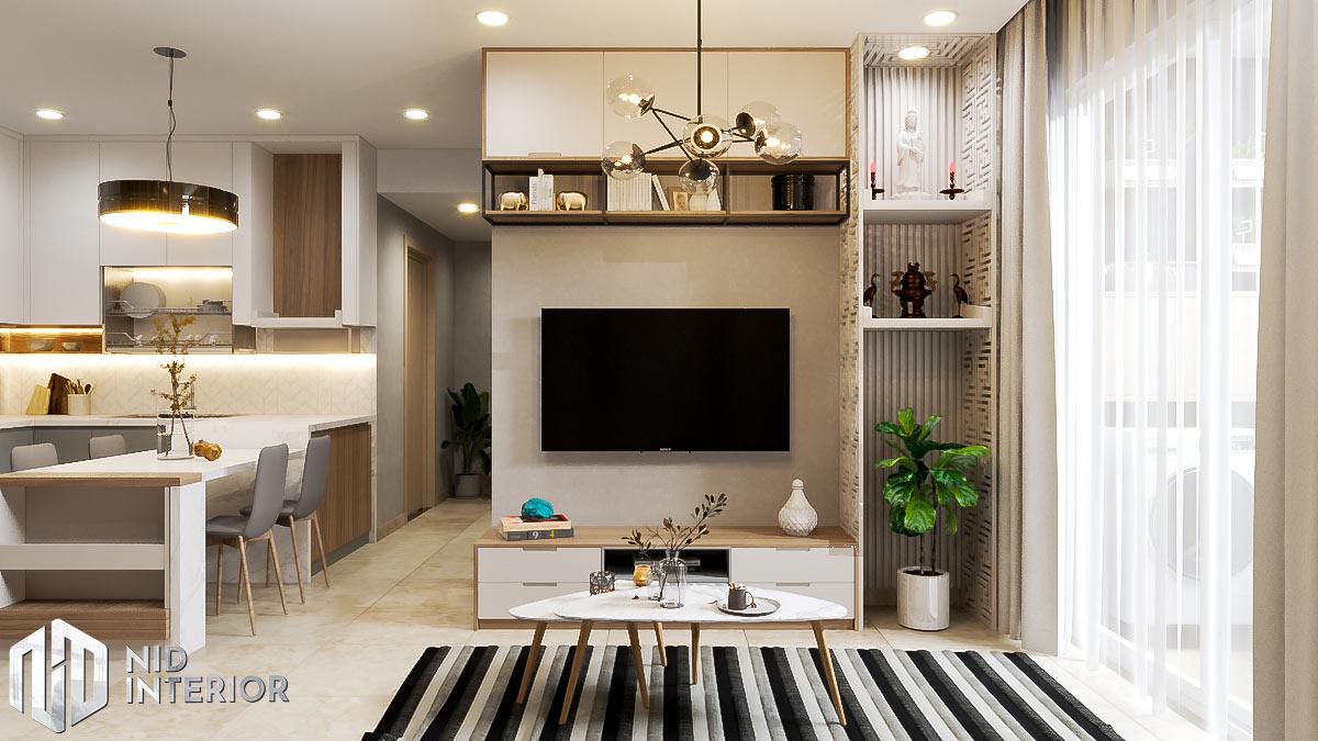 Thiết kế nội thất căn hộ Sunrise Riverside - Phòng khách