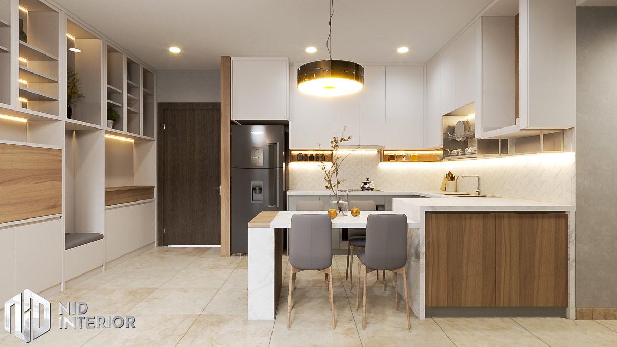 Thiết kế nội thất căn hộ Sunrise Riverside - Khu bếp