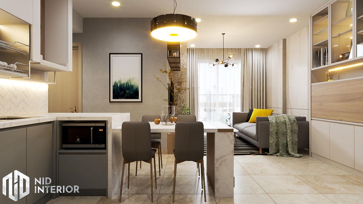 Thiết kế nội thất căn hộ Sunrise Riverside - Khu sinh hoạt chung