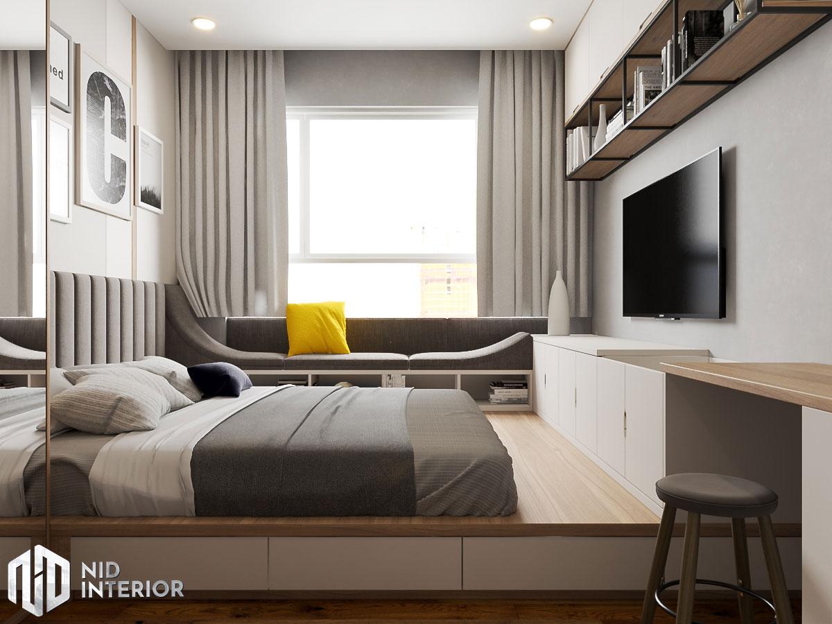 Thiết kế nội thất căn hộ Sunrise Riverside - Phòng ngủ Master
