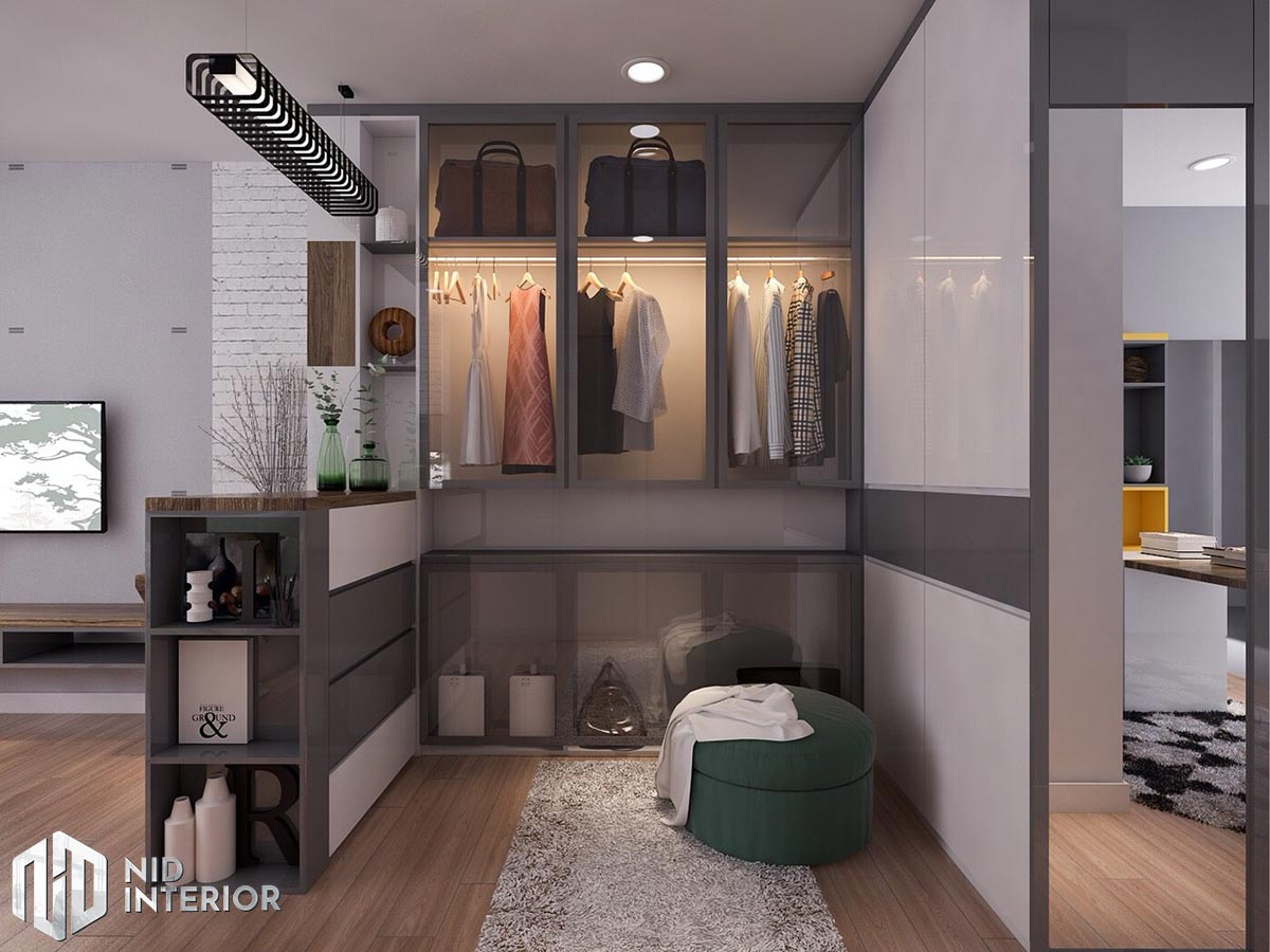 Thiết kế nội thất nhà phố 4mx18m - Tủ đồ