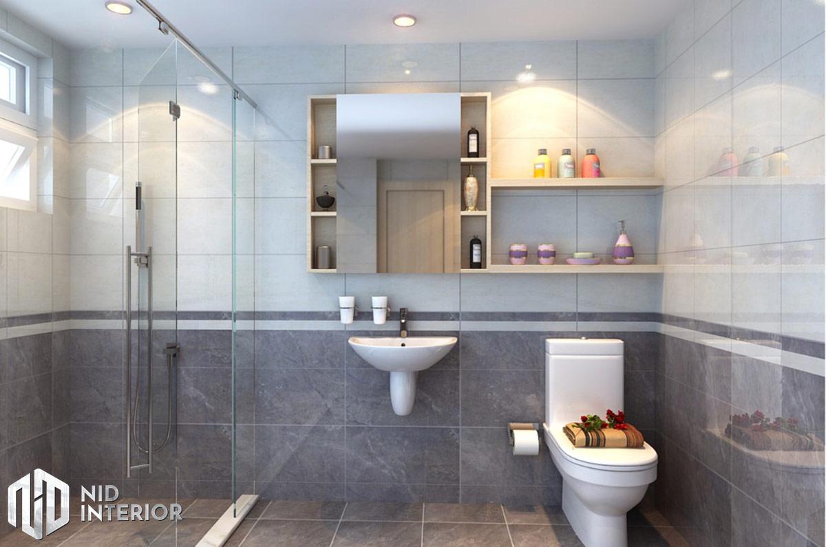Thiết kế nội thất nhà phố 4mx18m - Phòng vệ sinh