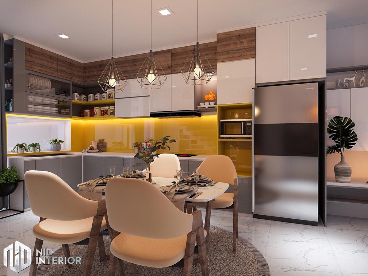 Thiết kế nội thất nhà phố 4mx18m - Khu bếp