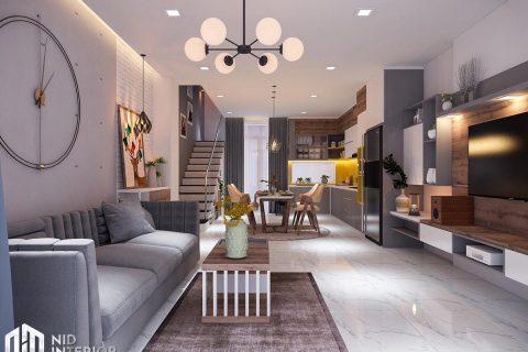 Thiết kế nội thất nhà phố 4mx18m