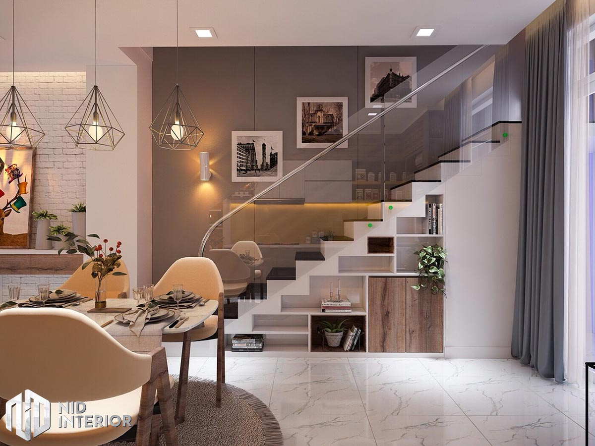 Thiết kế nội thất nhà phố 4mx18m - Bàn ăn