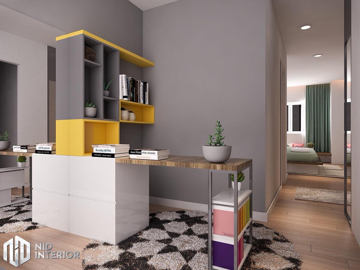 Thiết kế nội thất nhà phố 4mx18m - Bàn làm việc