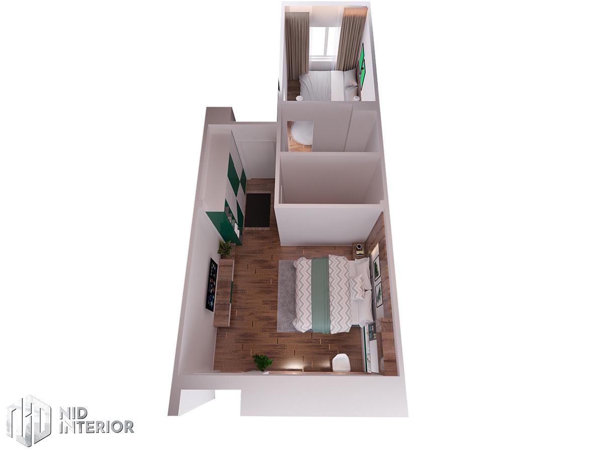Thiết kế nội thất nhà phố 4mx18m - Mặt bằng tầng 1