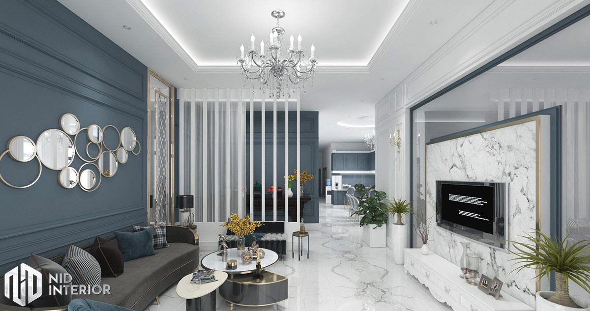 Thiết kế nội thất nhà phố Phan Rang - Phòng khách