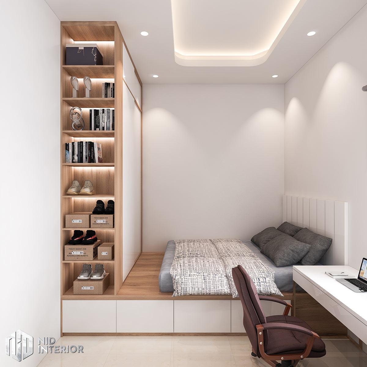 Thiết kế nội thất nhà phố Long An - Phòng ngủ 2