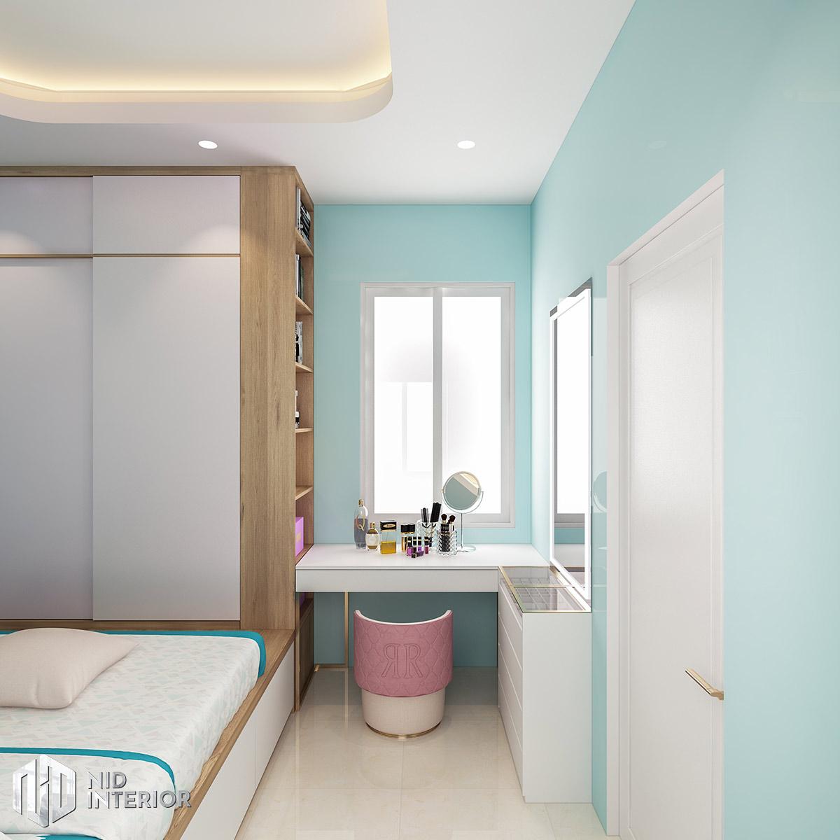 Thiết kế nội thất nhà phố Long An - Phòng ngủ 3