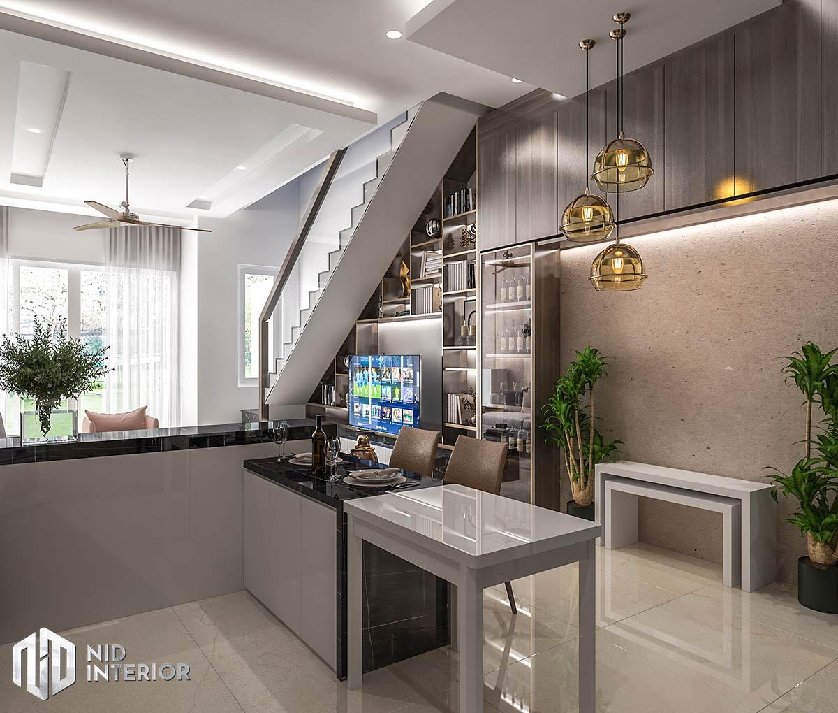 Thiết kế nội thất nhà phố Long An - Bếp ăn
