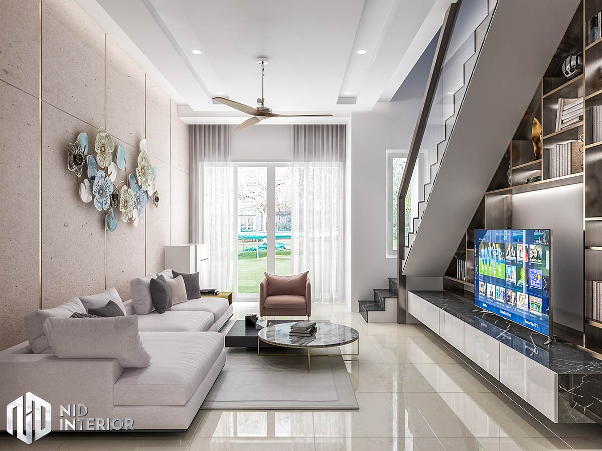 Thiết kế nội thất nhà phố Long An - Phòng khách
