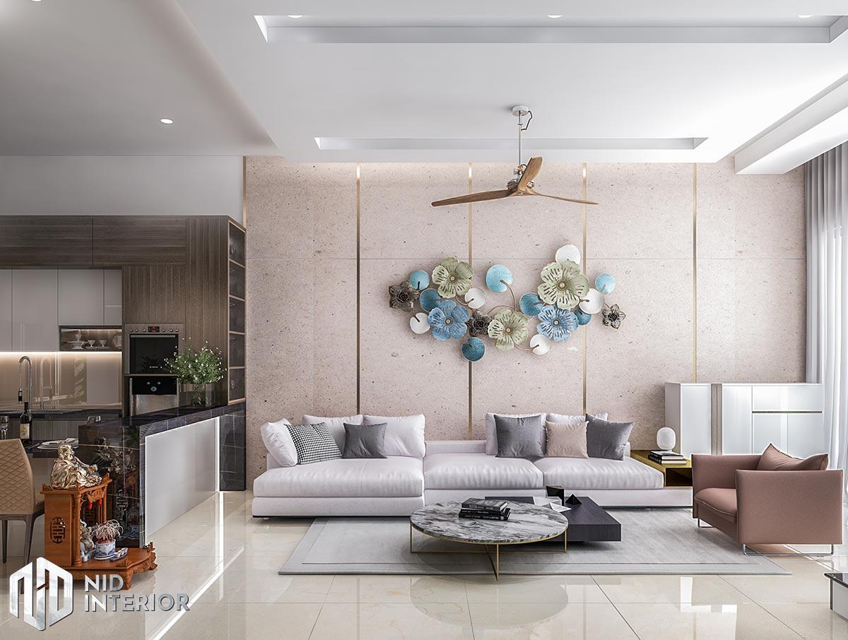 Thiết kế nội thất nhà phố Long An - Sofa phòng khách