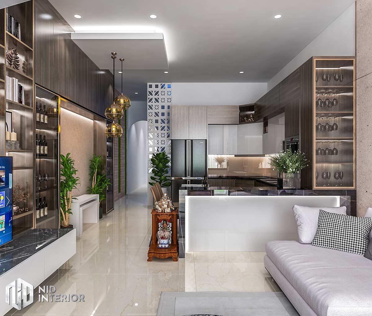 Thiết kế nội thất nhà phố Long An - Khu vực bếp ăn
