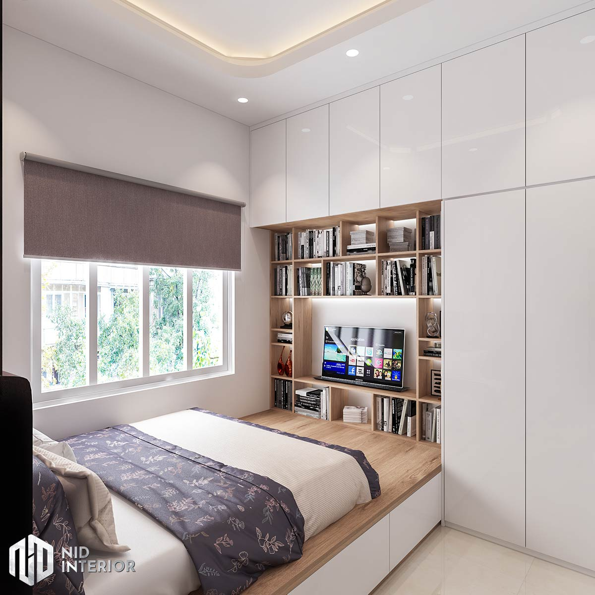 Thiết kế nội thất nhà phố Long An - Phòng ngủ chính