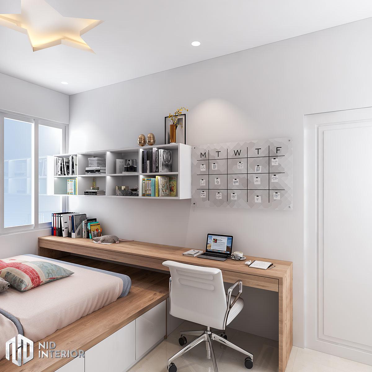 Thiết kế nội thất nhà phố Long An - Phòng ngủ bé trai