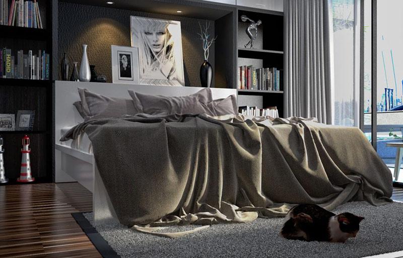 Phòng ngủ màu đen