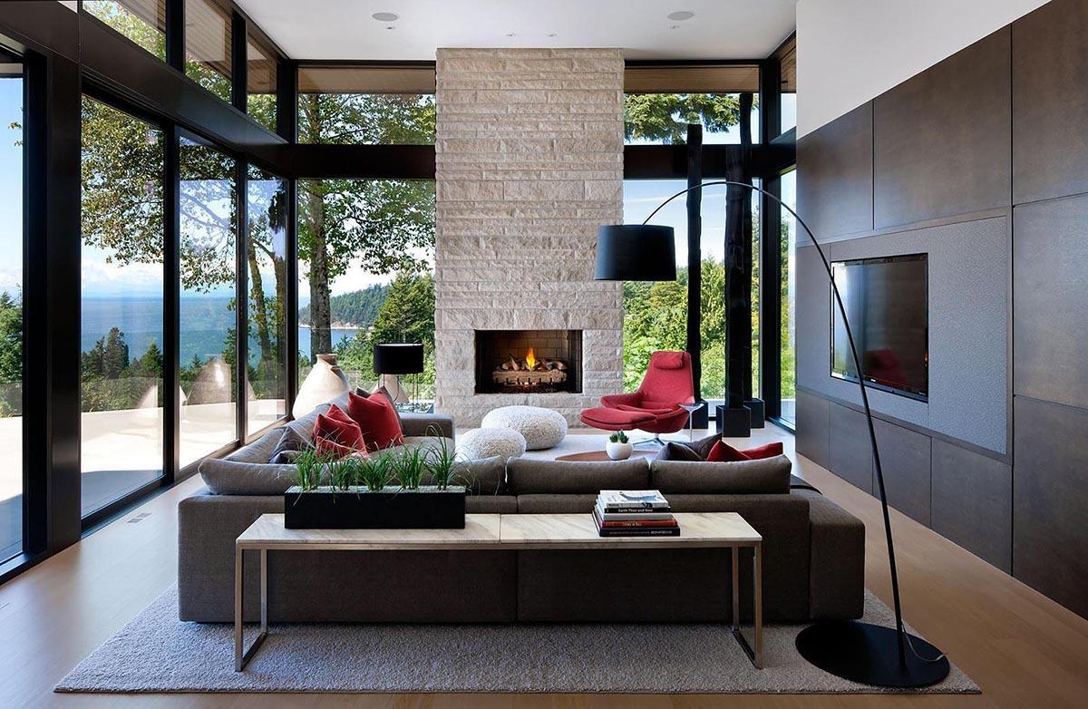 Phòng khách được thiết kế theo phong cách hiện đại cực ấn tượng