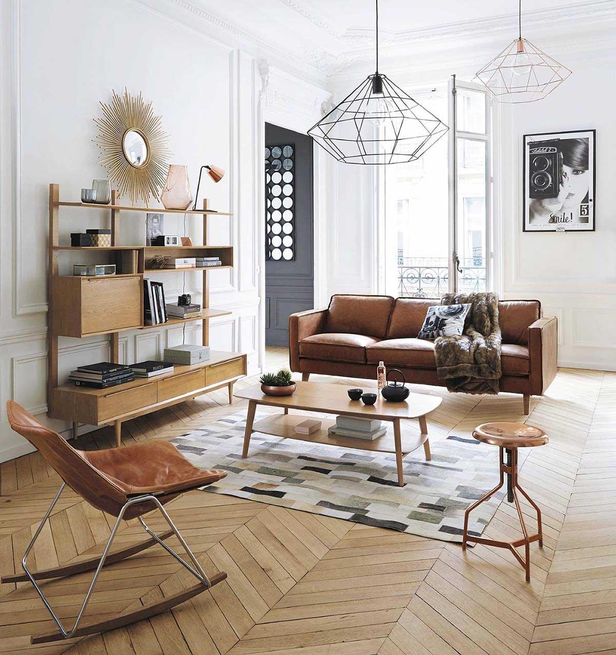 Không gian phòng khách theo xu hướng trung đại được thiết kế ấn tượng