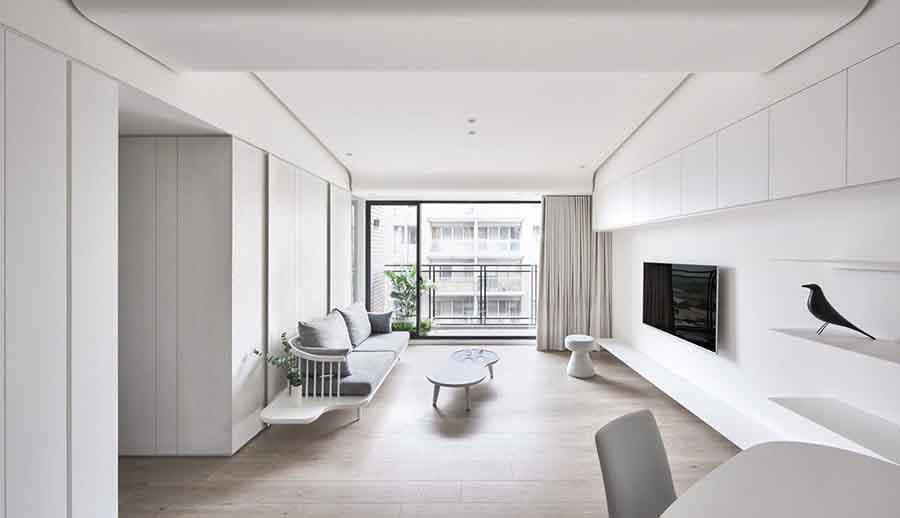 Trần nhà phong cách thiết kế tối giản hiện đại