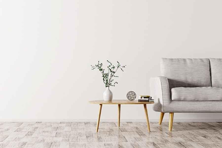 Sàn nhà với gam màu tự nhiên dù không quá nổi bật nhưng vẫn gây ấn tượng