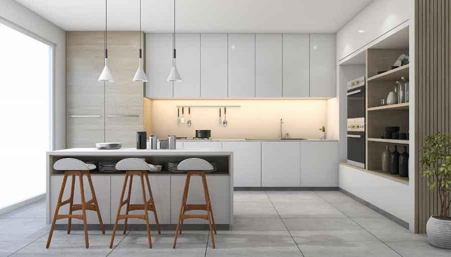Nhà bếp phong cách thiết kế tối giản hiện đại