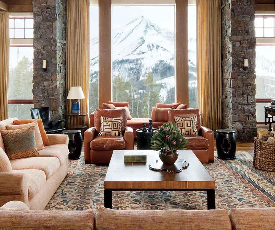 Tầm nhìn rộng khiến căn phòng như được hòa quyện cùng với thiên nhiên