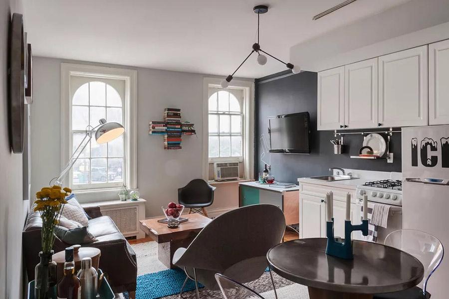 Phong cách nội thất retro phòng khách với màu sắc sống động, mạnh mẽ
