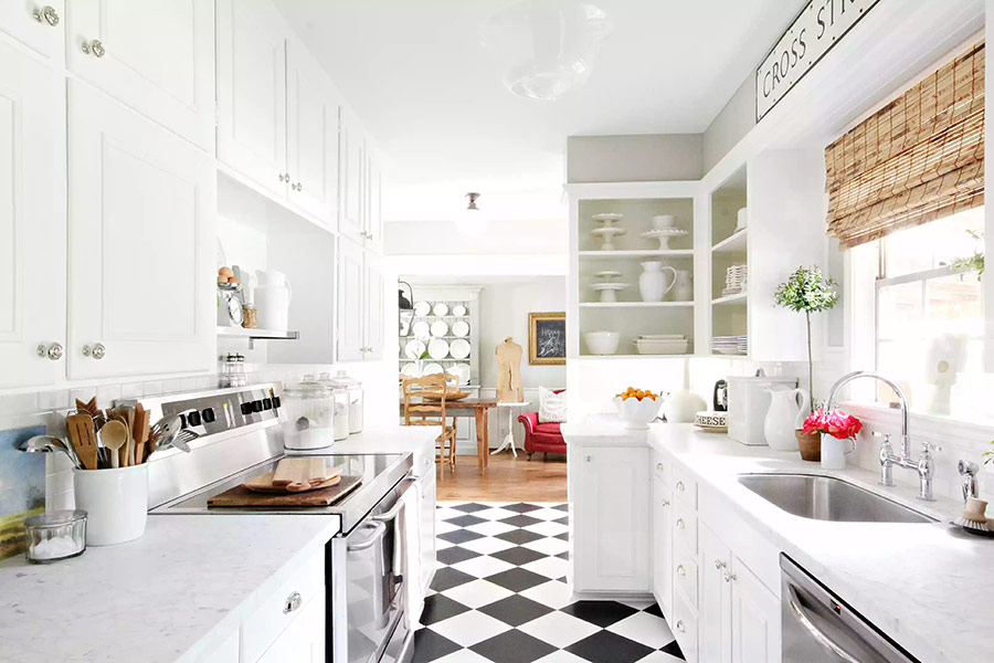 Phong cách phòng bếp được ứng dụng thiết kế retro hoàn hảo