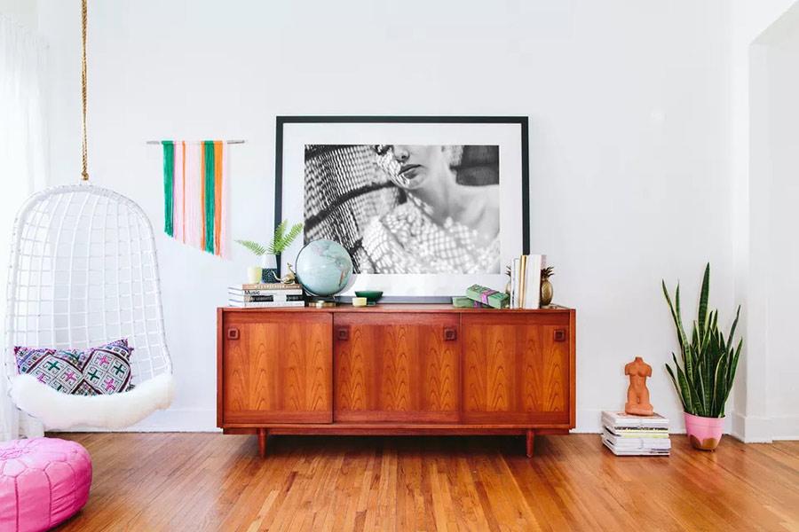 Chất liệu trong phong cách thiết kế nội thất Retro