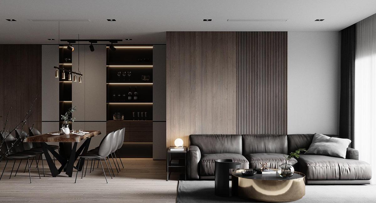 Bố trí nội thất hợp lý khiến không gian ngôi nhà trở nên thoải mái hơn