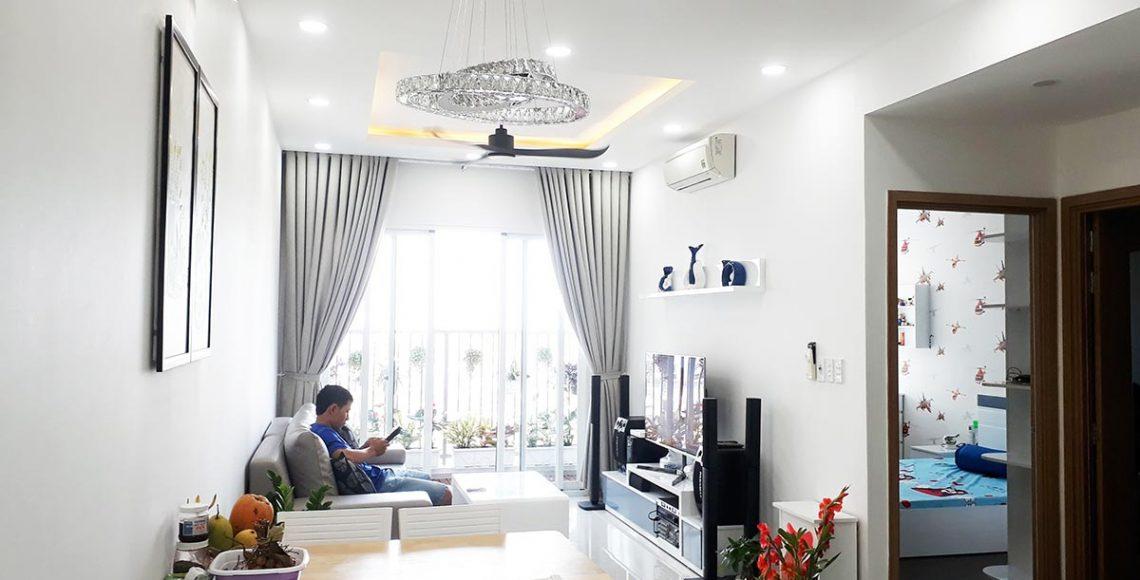 Thi công nội thất căn hộ Jamora City - Phòng khách