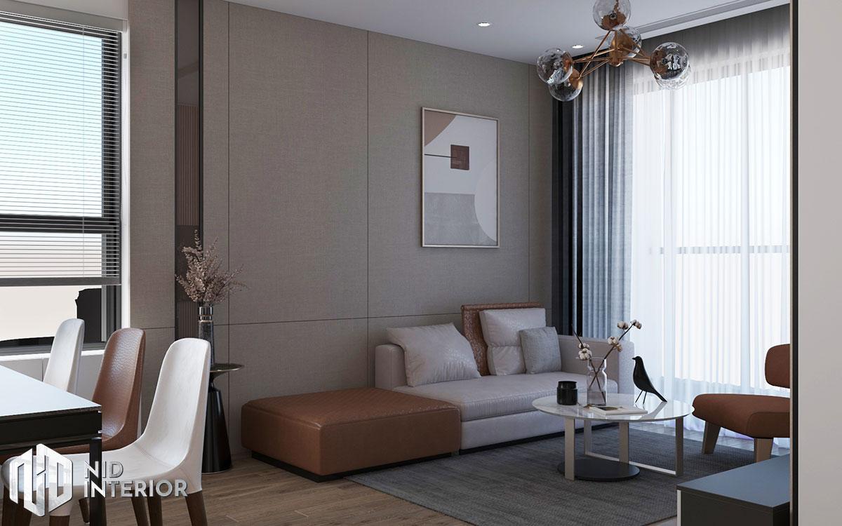 Thiết kế nội thất căn hộ Diamond Celadon City - Phòng khách