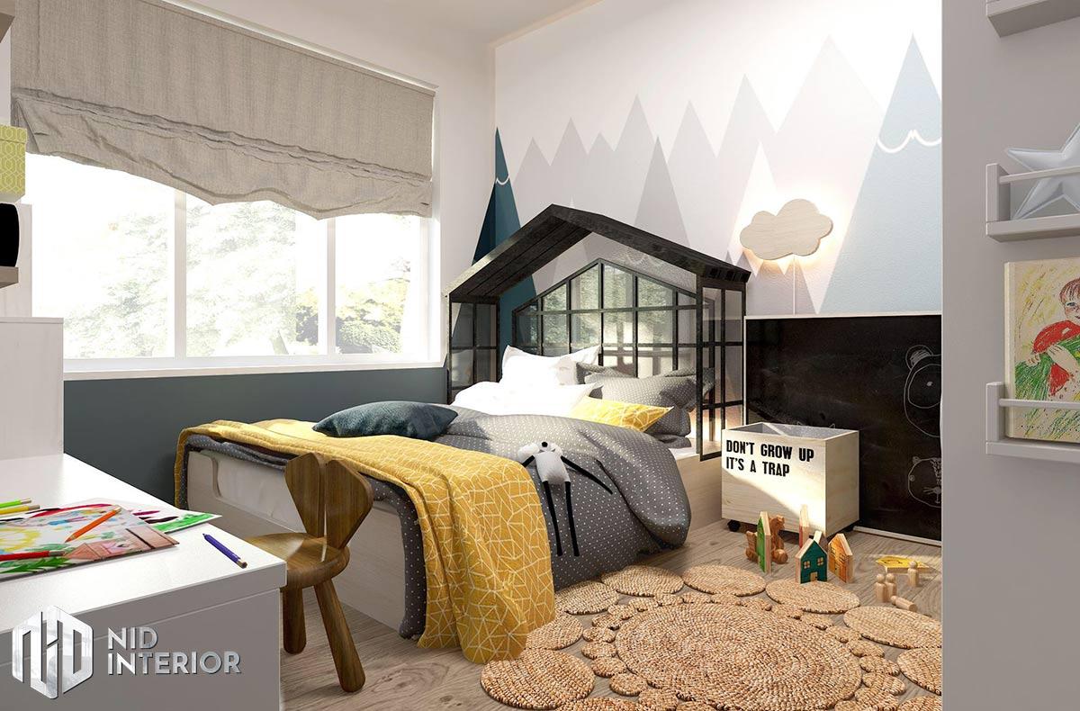 Thiết kế nội thất căn hộ Palm Heights - Phòng ngủ trẻ em