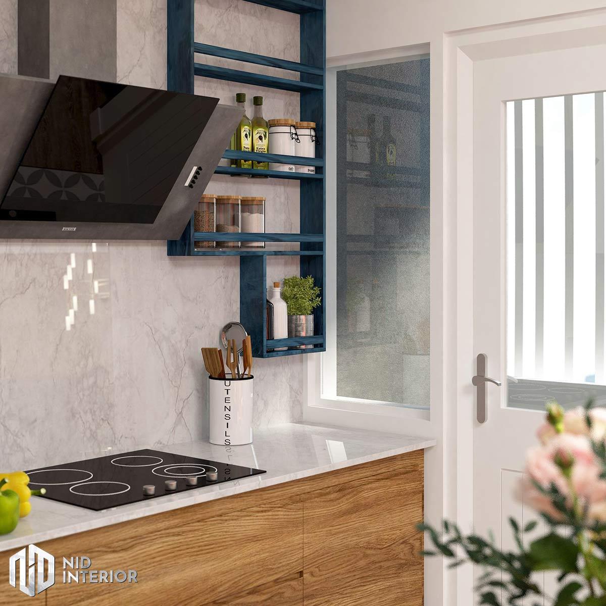 Thiết kế nội thất căn hộ Palm Heights - Bếp