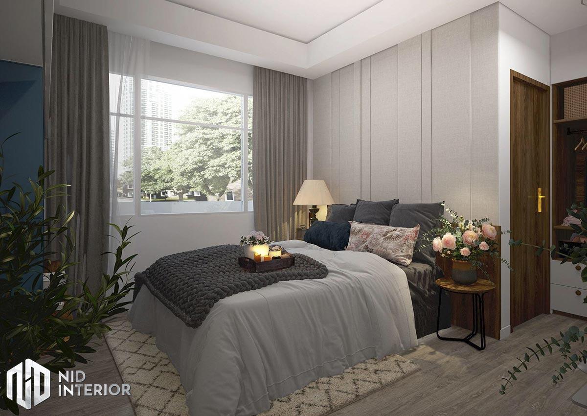 Thiết kế nội thất căn hộ Palm Heights - Phòng ngủ master