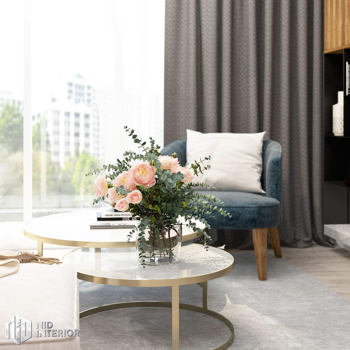 Thiết kế nội thất căn hộ Palm Heights - Bàn trà