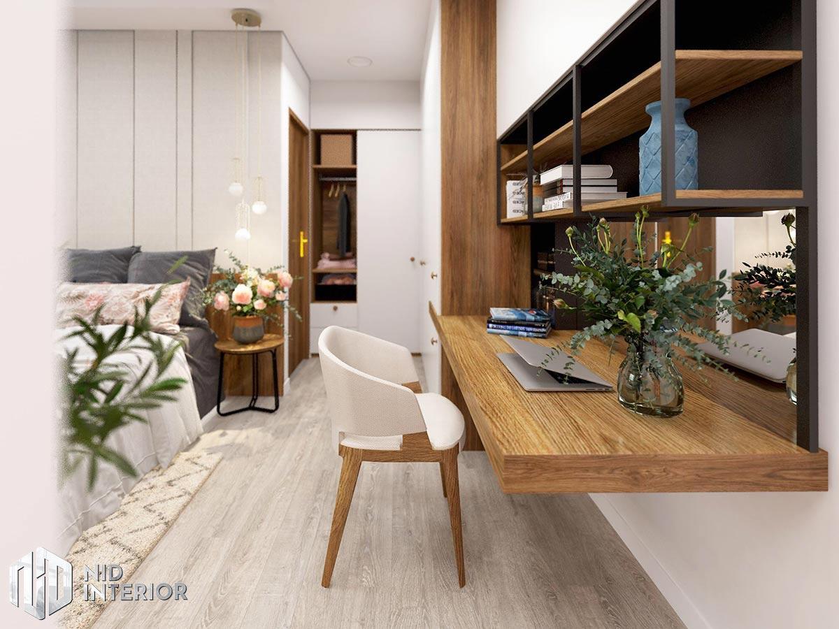 Thiết kế nội thất căn hộ Palm Heights - Bàn làm việc